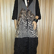 Одежда handmade. Livemaster - original item The tunic sundress animal print. Handmade.