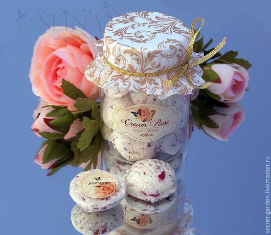 Бомбы для ванны ручной работы. Ярмарка Мастеров - ручная работа. Купить Ракушки для маникюра и педикюра Cream Rose. Handmade.