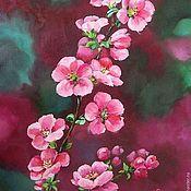 """Картины и панно ручной работы. Ярмарка Мастеров - ручная работа Картина маслом """"Розовая весна"""". Handmade."""