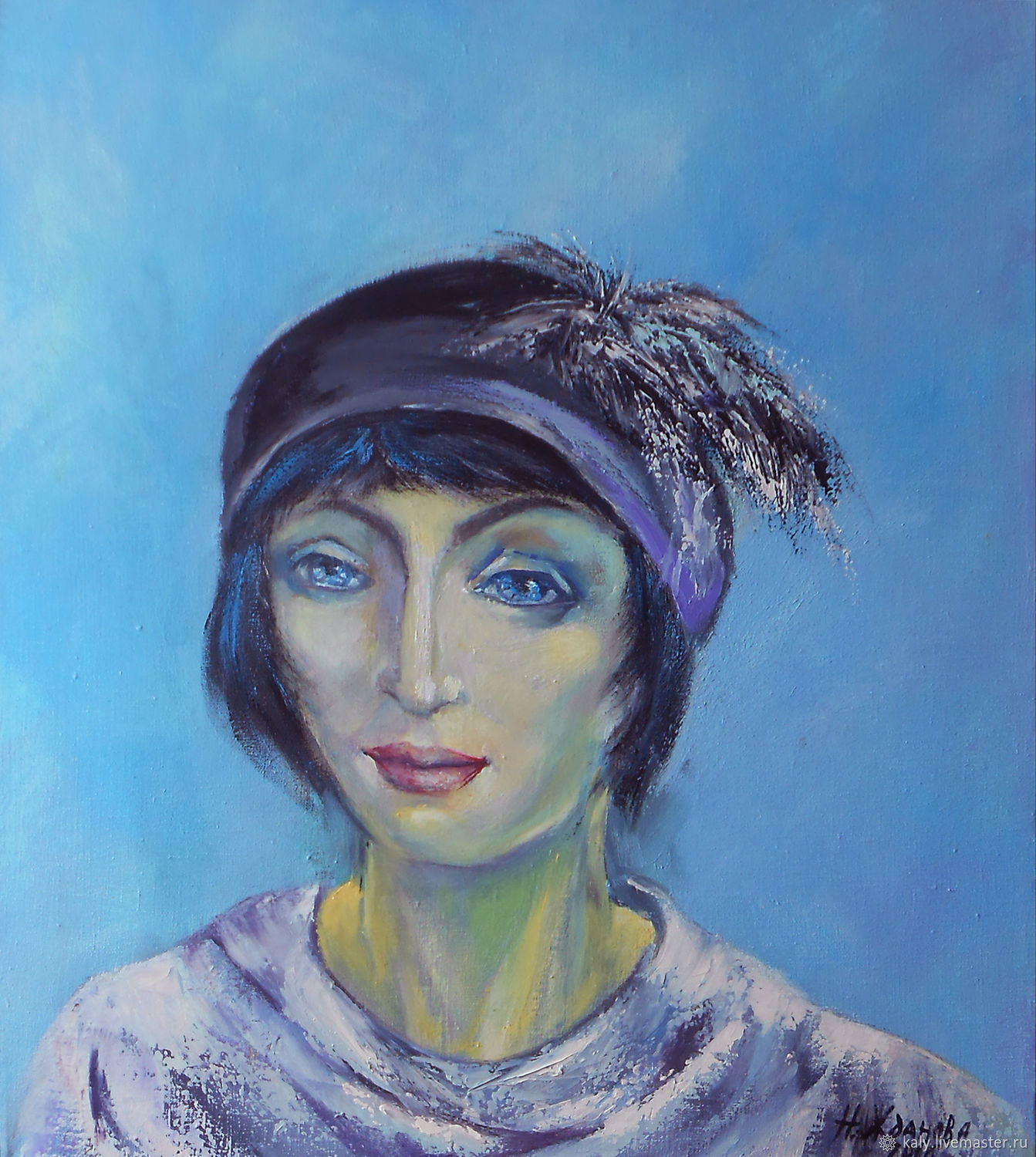 Portrait woman oil painting  Mysterious stranger  from the past, Pictures, St. Petersburg, Фото №1