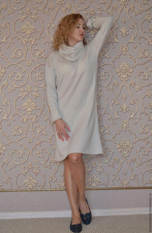"""Платья ручной работы. Ярмарка Мастеров - ручная работа. Купить Платье-свитер """" Белые ночи"""" из полушерсти. Handmade. Белый"""
