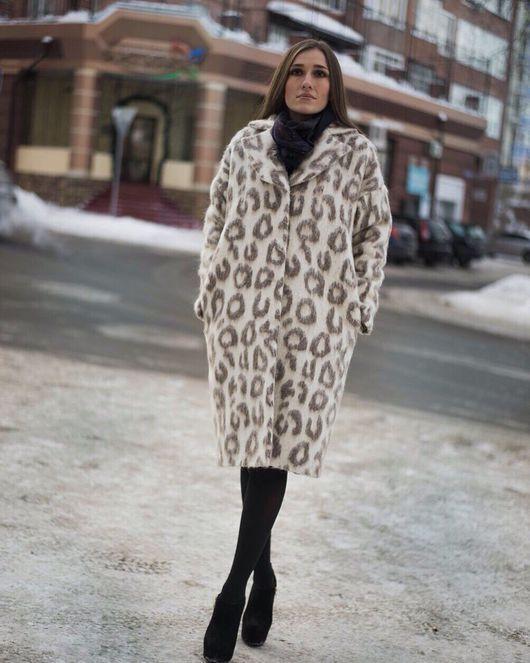 Верхняя одежда ручной работы. Ярмарка Мастеров - ручная работа. Купить Зимнее Пальто из мохера и шерсти Karolina Hererra. Handmade.