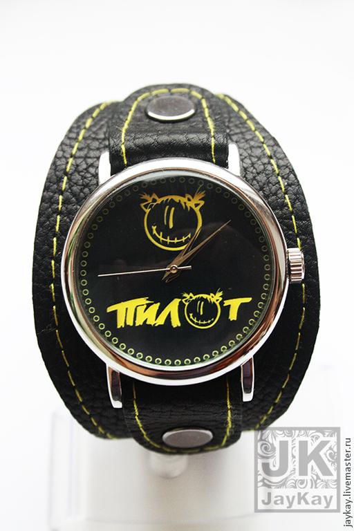 """Часы ручной работы. Ярмарка Мастеров - ручная работа. Купить Часы наручные JK """"Пилот"""". Handmade. Часы"""