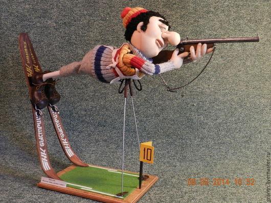 Коллекционные куклы ручной работы. Ярмарка Мастеров - ручная работа. Купить Биатлонист. Handmade. Юмор, спортивная шапка, олимпиада, бифлекс
