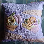 "Для дома и интерьера handmade. Livemaster - original item Quilted and patchwork pillowcase  ""Morning Roses"". Handmade."