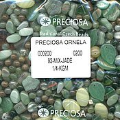 Материалы для творчества handmade. Livemaster - original item 20 gr MIX Jade Czech beads Preciosa. Handmade.