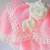 Для дома и интерьера ручной работы. Ярмарка Мастеров - ручная работа Плед Роза (накидка, шаль) в стиле шебби шик вязаный спицами. Handmade.