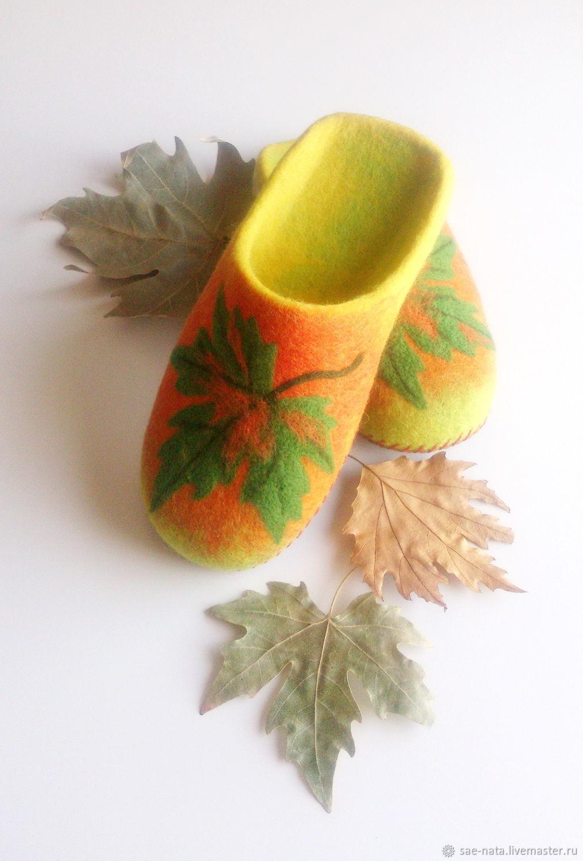 Обувь ручной работы. Ярмарка Мастеров - ручная работа. Купить Тапки валяные женские. Handmade. Тапки валяные