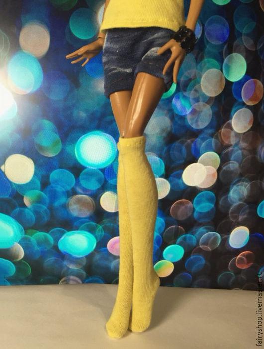 Одежда для кукол ручной работы. Ярмарка Мастеров - ручная работа. Купить Гольфы для куклы Monster high. Handmade. Желтый, монстрик