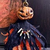 Куклы и игрушки handmade. Livemaster - original item Jack-o-the-Lantern - hanging doll, Halloween decoration. Handmade.