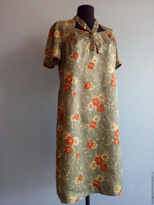 Одежда. Ярмарка Мастеров - ручная работа. Купить Винтажное, красивое платье с трудной судьбой. Handmade. Комбинированный, платье, ретро платье