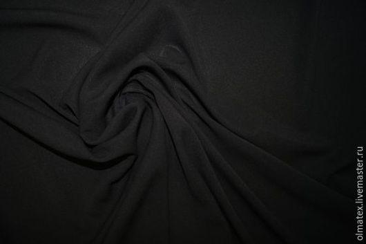 Шитье ручной работы. Ярмарка Мастеров - ручная работа. Купить Шифон с эластаном. Handmade. Черный, шифон стрейч, ткани италия