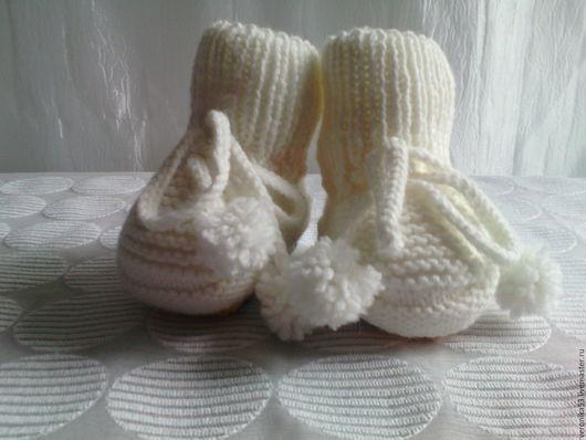 Одежда для девочек, ручной работы. Ярмарка Мастеров - ручная работа. Купить Пинетки детские. Handmade. Пинетки, носочки вязаные, розовый