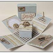 Открытки ручной работы. Ярмарка Мастеров - ручная работа Мужская коробочка-открытка. Handmade.