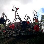 """Украшения ручной работы. Ярмарка Мастеров - ручная работа Корона """"Бал вампиров"""", медь, стекло, пластик, алюминий. Handmade."""