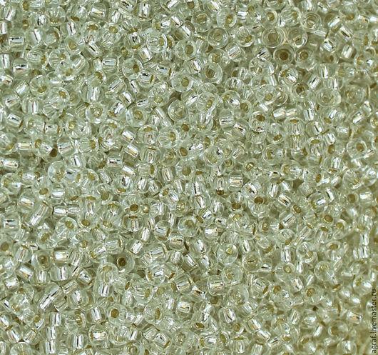 Для украшений ручной работы. Ярмарка Мастеров - ручная работа. Купить Круглый 11/0 Miyuki 001 silver Line Crystal японский бисер Миюки. Handmade.