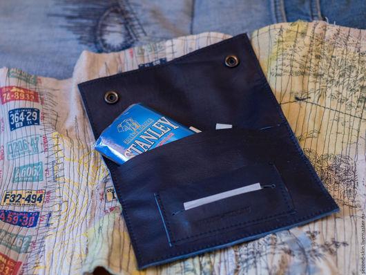 Футляры, очечники ручной работы. Ярмарка Мастеров - ручная работа. Купить Синий кисет для табака. Handmade. Кисет, simon