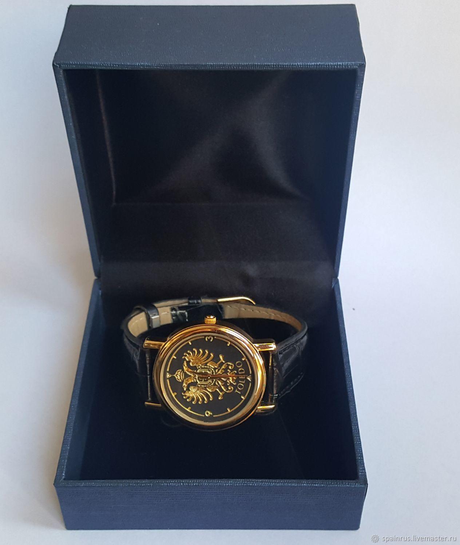 Часы ручной работы. Ярмарка Мастеров - ручная работа. Купить Наручные часы  техника Дамаскин Золото ... 89514a5cdb0