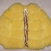 """Шубы ручной работы. Ярмарка Мастеров - ручная работа Шуба из песца """"Желтый бриллиант"""". Handmade."""