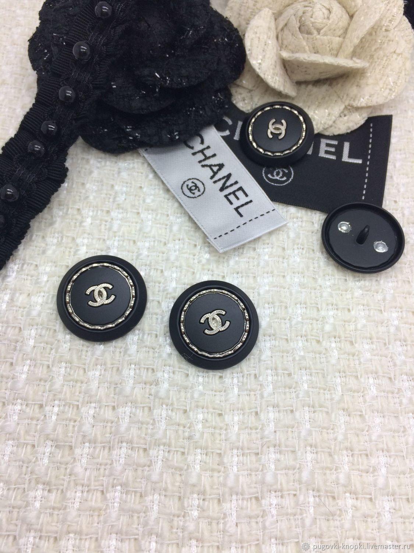 Пуговица в стиле Chanel черная, Пуговицы, Москва, Фото №1