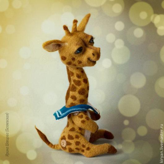 Игрушки животные, ручной работы. Ярмарка Мастеров - ручная работа. Купить Жирафик-морячок. Handmade. Оранжевый, стеклянные глазки