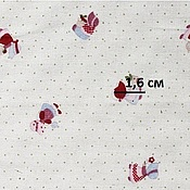 Материалы для творчества ручной работы. Ярмарка Мастеров - ручная работа Ткань хлопок Человечки в точках. Handmade.