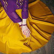Одежда ручной работы. Ярмарка Мастеров - ручная работа Юбка-солнце Горчица. Handmade.