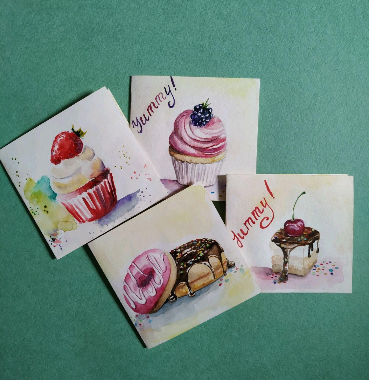 Набор открыток для ручной работы, открытки