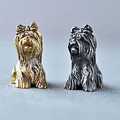 "Сувениры и подарки handmade. Livemaster - original item Silver figures ""Yorkshire Terrier"". Handmade."