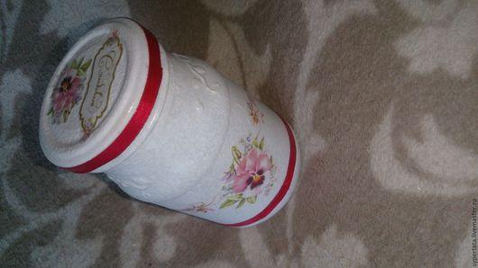 Кухня ручной работы. Ярмарка Мастеров - ручная работа. Купить милая баночка для специй. Handmade. Фиолетовый цвет, красный цвет