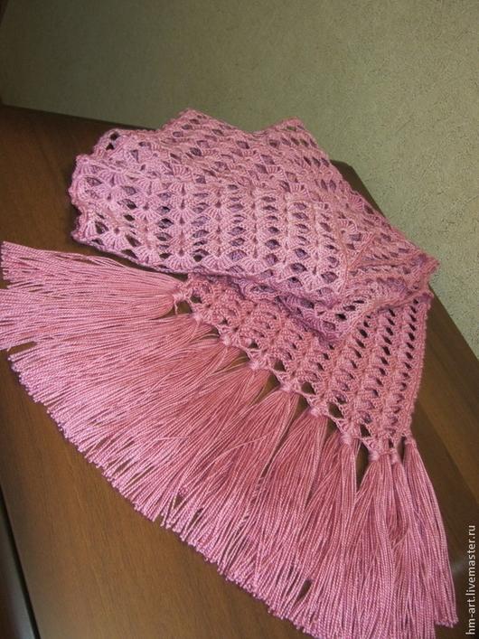 """Шарфы и шарфики ручной работы. Ярмарка Мастеров - ручная работа. Купить Шарф """"Розовый бутон"""". Handmade. Розовый, шарф комбинированный"""