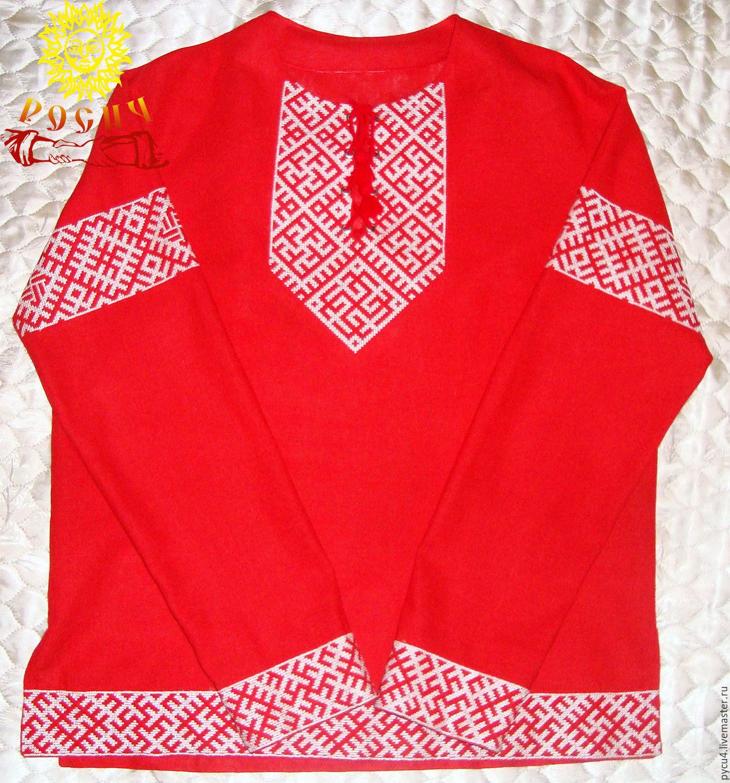 "Slavic linen shirt ""Svarozhich"", People\\\'s shirts, Volokolamsk,  Фото №1"