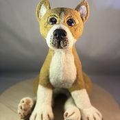 handmade. Livemaster - original item felt toy: dog. Handmade.