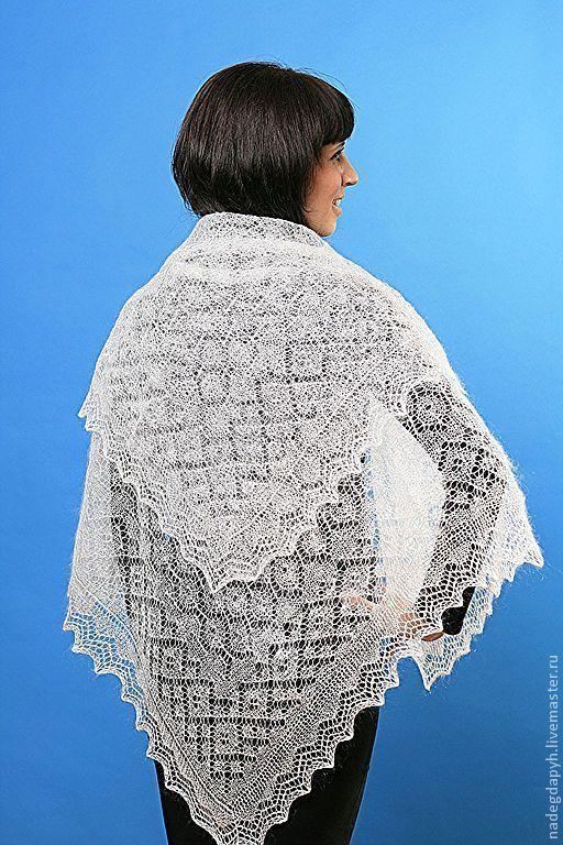 26 shawl down Orenburg cobweb 'Gentle' shawl, Shawls1, Orenburg,  Фото №1