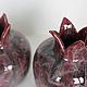 Статуэтки ручной работы. Керамическая ваза Пепельный гранат. NIBOQUA авторская керамика. Интернет-магазин Ярмарка Мастеров. Гранат керамический