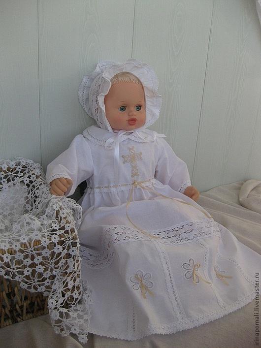 """Крестильные принадлежности ручной работы. Ярмарка Мастеров - ручная работа. Купить Крестильное платье """"Анфиса"""" - техника Ришелье. Handmade. Белый"""