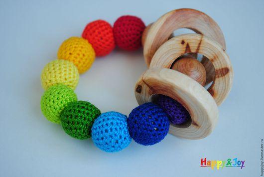 Развивающие игрушки ручной работы. Ярмарка Мастеров - ручная работа. Купить Прорезыватель для зубов (грызунок) деревянный можжевеловый. Handmade. Комбинированный