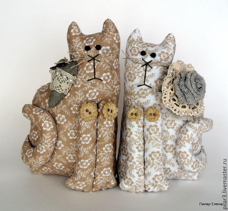 Куклы Тильды ручной работы. Ярмарка Мастеров - ручная работа. Купить Коты неразлучники. Handmade. Кот, подарок ручной работы