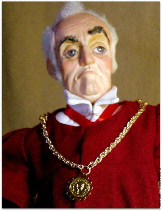 """Коллекционные куклы ручной работы. Ярмарка Мастеров - ручная работа. Купить """"Dura Lex sed lex"""". Handmade. Бордовый, ЛивингДолл"""