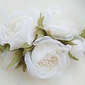 Свадебный салон handmade. Livemaster - original item Sprig of roses in her hair. FABRIC FLOWERS. Handmade.