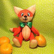 Куклы и игрушки ручной работы. Ярмарка Мастеров - ручная работа Лис по имени Апельсин. Handmade.