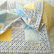 Работы для детей, ручной работы. Ярмарка Мастеров - ручная работа Одеяло лоскутное для мальчика на выписку. Handmade.