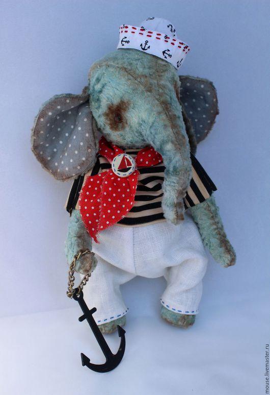 Мишки Тедди ручной работы. Ярмарка Мастеров - ручная работа. Купить Мотя-морячок. Handmade. Слоник тедди, коллекционная игрушка