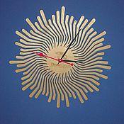 Для дома и интерьера ручной работы. Ярмарка Мастеров - ручная работа Часы солнышко из фанеры. Handmade.