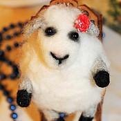"""Куклы и игрушки ручной работы. Ярмарка Мастеров - ручная работа Войлочная игрушка """"Овечка Моли"""". Handmade."""