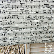 Материалы для творчества ручной работы. Ярмарка Мастеров - ручная работа Нотная ткань, хлопок. Handmade.
