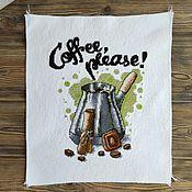 Картины и панно handmade. Livemaster - original item Cross Stitch Coffe please. Handmade.