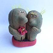 Для дома и интерьера handmade. Livemaster - original item Love with thorns. Cacti. Ceramics. Handmade.