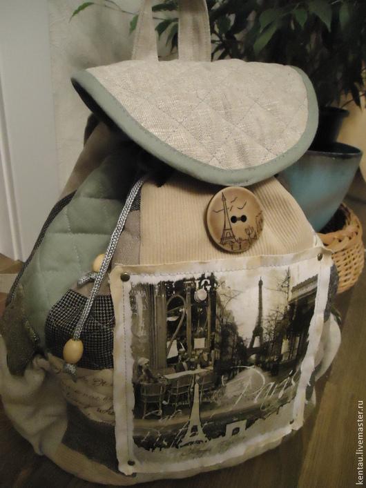 """Рюкзаки ручной работы. Ярмарка Мастеров - ручная работа. Купить Рюкзак """"Я увезу тебя в Париж!"""". Handmade. Рюкзак, Париж"""