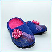 """Обувь ручной работы. Ярмарка Мастеров - ручная работа Тапочки """"Розовый цветочек"""". Handmade."""